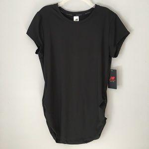 NEW BALANCE Top Fast Dry T-shirt Black Ruched LG